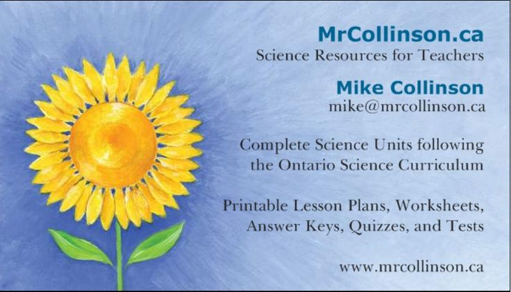 Welcome to MrCollinson.ca - Science Resources - Full Units with Lesson Plans and Worksheets