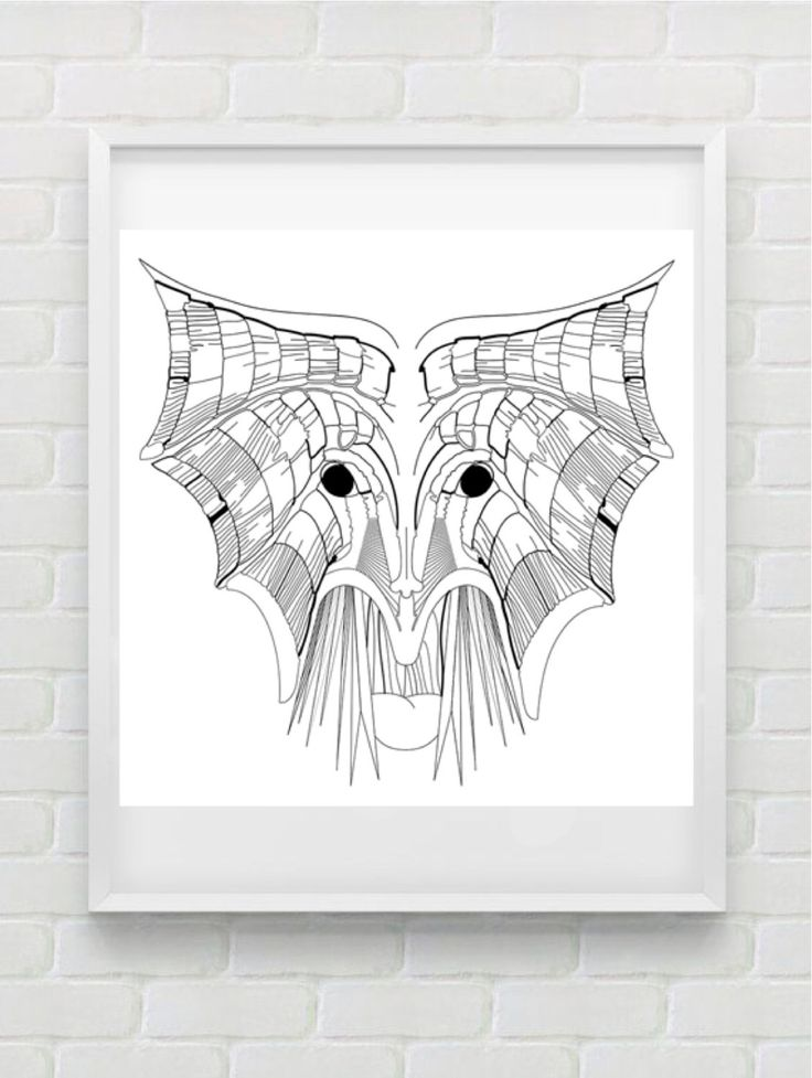 Clean Line Print - Wings Face by HHannahHHanes on Etsy  hannahchristenmichau.wix.com/hannahmichaud7