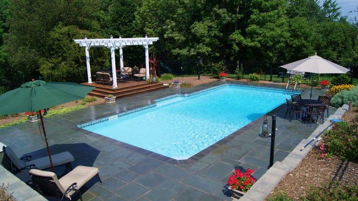 rectangular inground pool images - google search | patio ... - Inground Pool Patio Ideas