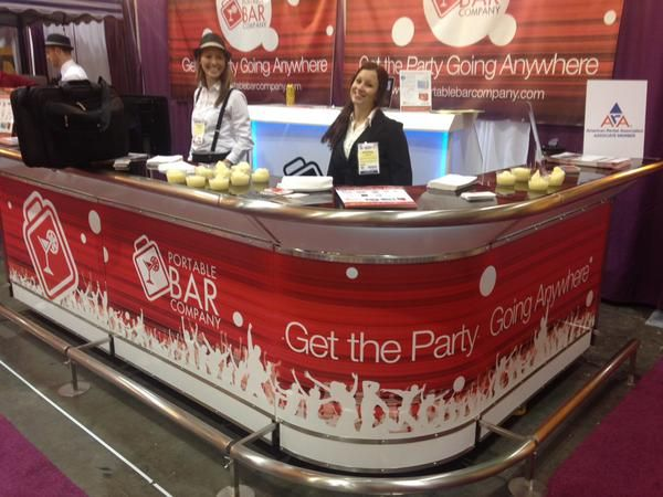 The Portable Bar Company Trade Show Booth