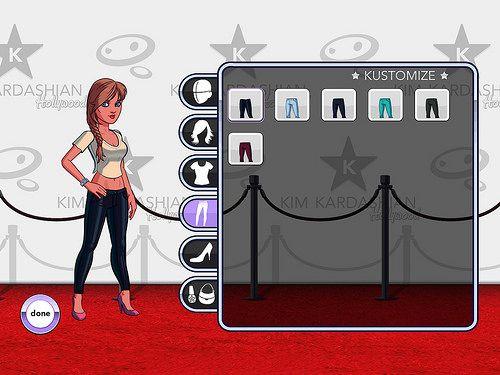 Kim Kardashian: Hollywood Profile & Avatar: screenshots, UI