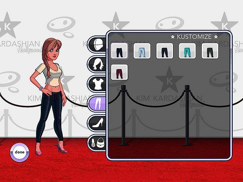 Kim Kardashian: Hollywood Profile & Avatar: screenshots, UI