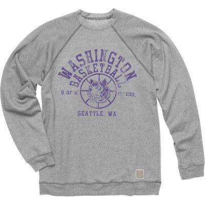 Original Retro Brand Washington Huskies Basketball Super Soft Crewneck Sweatshirt