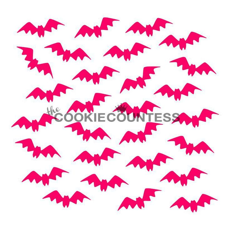 Fluttering Bats Stencil – The Cookie Countess