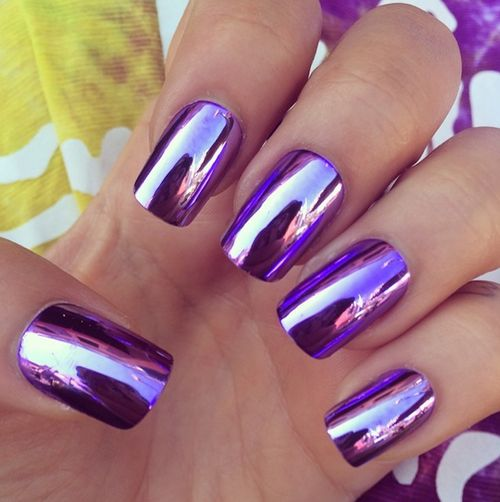 i am so here for the whole chrome nail thing