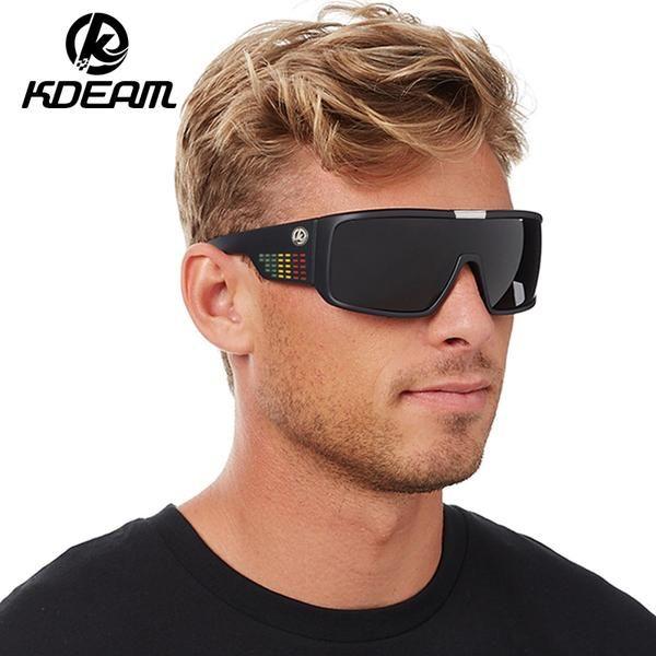 KDEAM Dragon Sunglasses Men Sport Goggle Sun Glasses Windproof Shield Frame Reflective Coating Original case 7 colors KD999