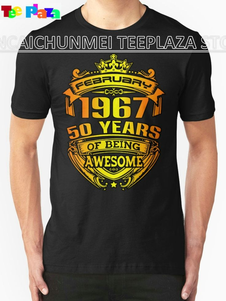 Teeplaza Cheap Printed T Shirts Zomer O-Neck Short-Sleeve Mens February 1967 50 Years Of Beig Awesome T Shirts