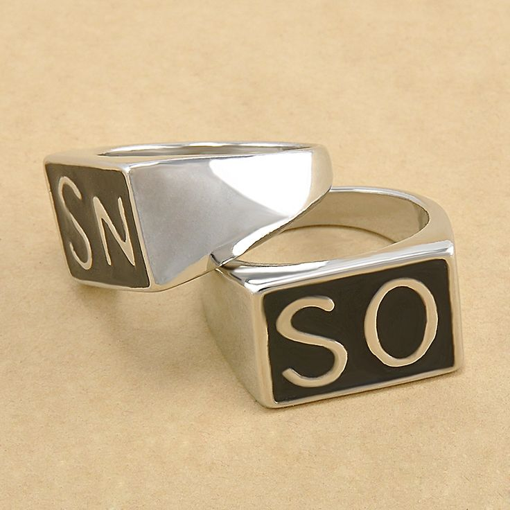 Promotion Simple SO SN Letters Man's Ring Zinc alloy Ring Man fashion rings Free shipping