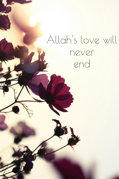 Allah's love will never end..