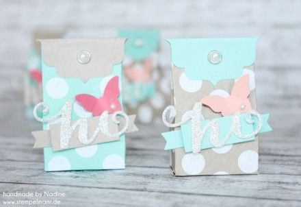 Goodie Stampin Up Verpackung Box One Sheet Box Give Away Gift 001 – #box #Gift #…