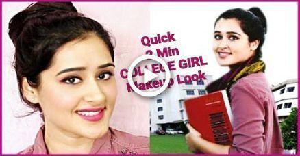 Comment faire: 2 MINUTE COLLÈGE MAQUILLAGE POUR LES FILLES - #college #girls #makeup #minute - #nouveau
