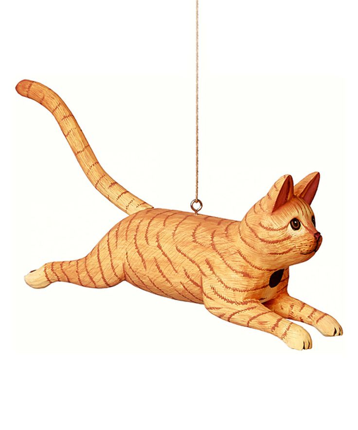 Orange Leaping Tabby Cat Birdhouse by Songbird Essentials #zulily