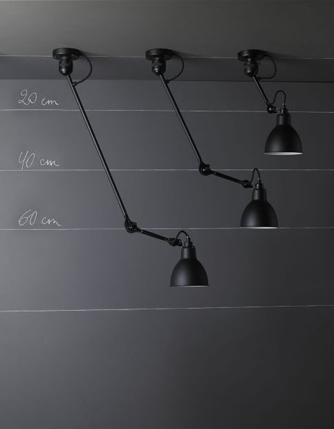 Original design wall light / steel / swing arm - LAMPE GRAS N°304L40 - DCW éditions