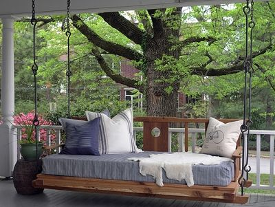 Outdoor Seating: Custom Beach Bed Swings for Porches