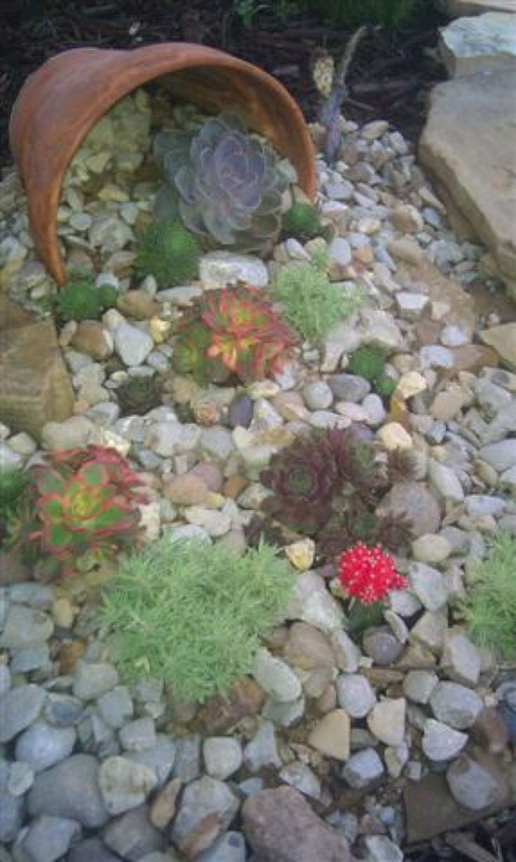 61 Beautiful Front Yard Rock Garden Ideas