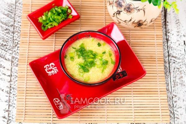 Китайский яичный суп «Даньхуатан» — рецепт с фото