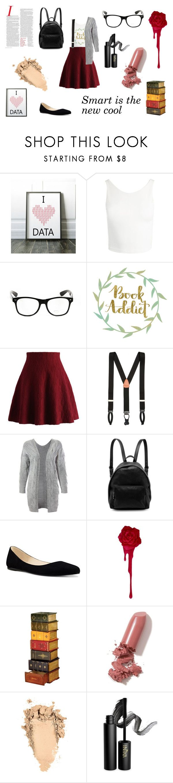 """Nerd chic"" by hannah-cat ❤ liked on Polyvore featuring Sans Souci, Chicwish, Brooks Brothers, STELLA McCARTNEY, Nine West, LAQA & Co. and INIKA"