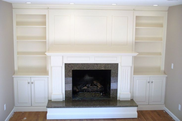 fireplace and shelving unit images pictures | Fireplace surround ...