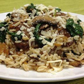UNCLE BEN'S® Easy Rice Recipes | Grilled Italian Sausage with Mushroom & Spinach Rice