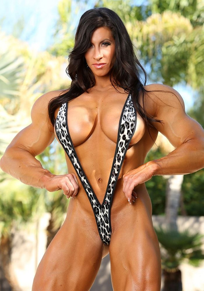 Sexy lady musculer naked think, that