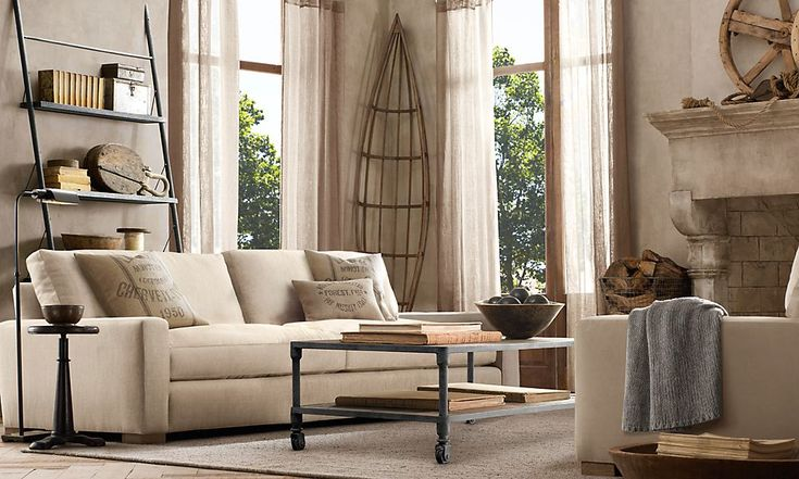 83 best restoration hardware livingroom images on pinterest. Black Bedroom Furniture Sets. Home Design Ideas