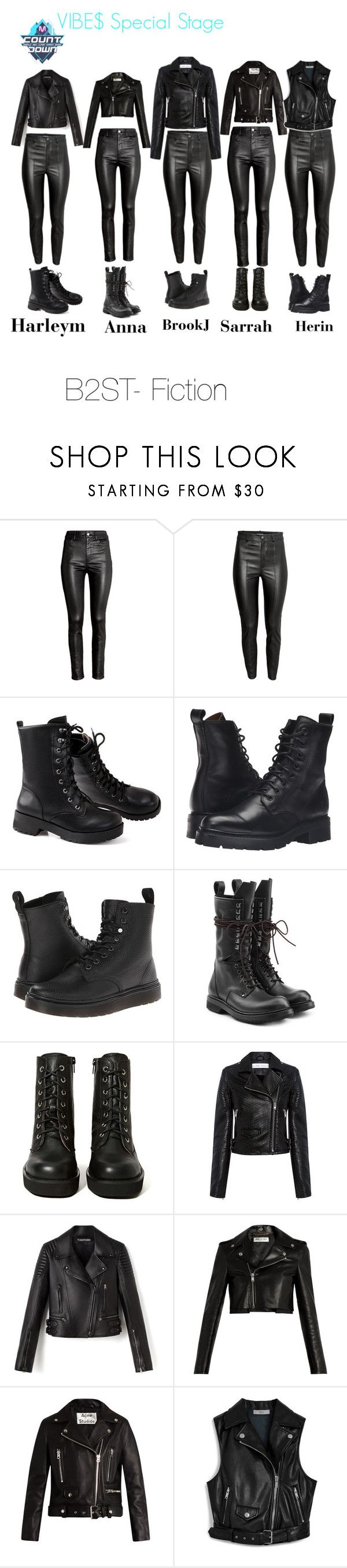 """2011 VIBE$ Mcountdown Special Stage"" by ygentertaiment on Polyvore featuring mode, H&M, Frye, Dr. Martens, Rick Owens, Jeffrey Campbell, IRO, Yves Saint Laurent, Acne Studios et Mulberry"