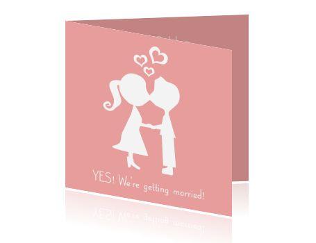 Grappige trouwkaarten met poppetjes