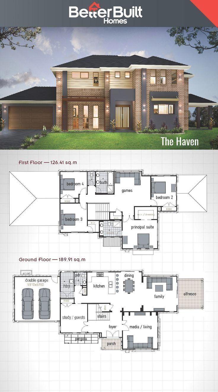 20 Best Modern House Floor Plans Plataran Best In 2020 2 Storey House Design Double Storey House Plans Double Storey House