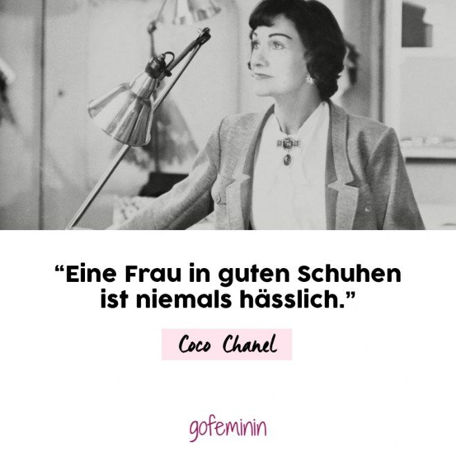 die besten 25 coco chanel zitate ideen auf pinterest. Black Bedroom Furniture Sets. Home Design Ideas