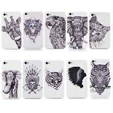 New Style Animals Pattern Hard Phone Cover Case For apple iphone 4 4S