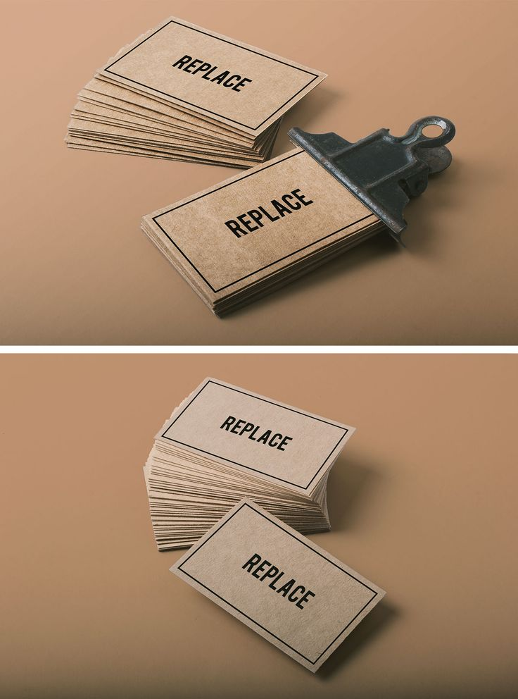 2 Business Card Mock-ups - download freebie by PixelBuddha