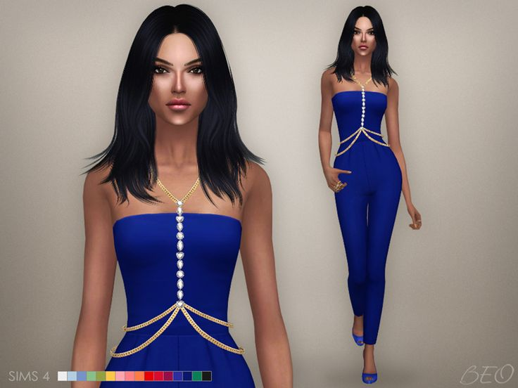 Body chain and Jumpsuit for The Sims 4 by BEO