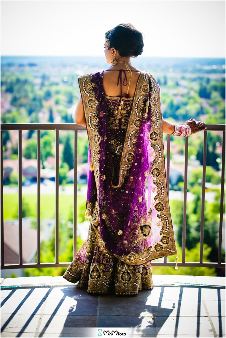 Purple dress with gold accents. Peacock themed. Sacramento, California wedding photography
