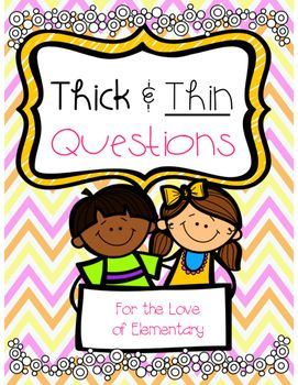 In this fun packet you will find: An introduction lesson to teaching students what thick and thin questions are using fun food examples. Posters to go with the thick and thin food/question examples Concept Sort for distinguishing between thick and thin questions Thick and thin worksheets that can go along with any story!