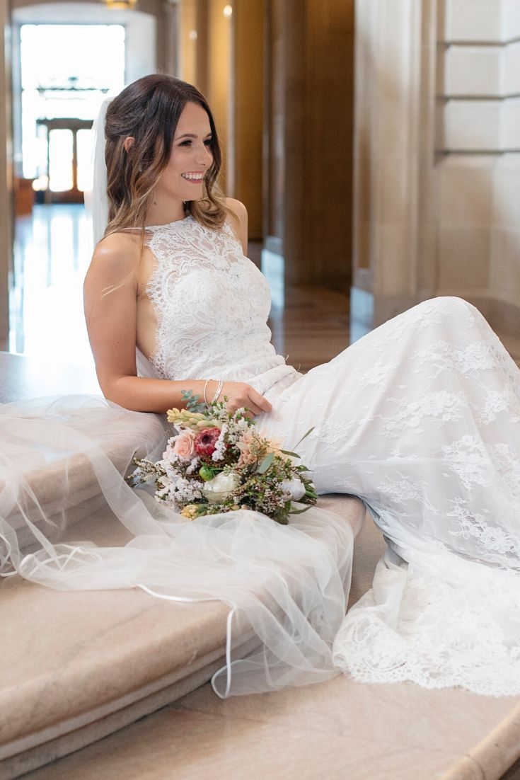 How Gorgeous Is This San Francisco City Hall Bride The Lace