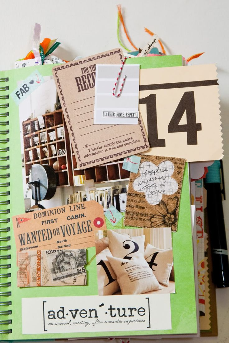 Love this example of how to keep an Anything Book page. It's about recording memories as they happen. You'll be glad you added each item later. #anythingbook