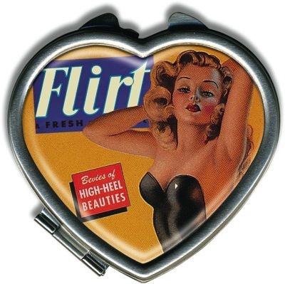 Miroir coeur rétro Flirt | DECO ACCESSOIRES PIN UP ATTITUDE : Vous êtes so spéciale alors pourquoi votre miroir ne le serait il pas lui aussi?   http://www.pinupattitude.com/gamme.htm?products_name=Miroir+coeur%20r%E9tro%20Flirt_id=14#  #accessoires #deco #vintage #oldschool #rock #shopping #retro #50s #60s #rockabilly #sexy #glamour #pinup