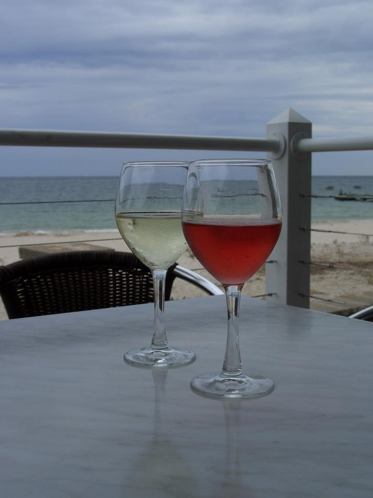 Having a glass of wine (or two) at the Busselton Jetty...