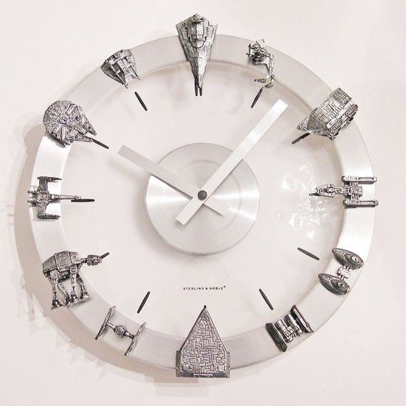 Star Wars clock - love! I'll have to start indoctrinating my three year old so I can hang this in his room someday!