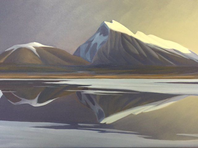 Ken Harrison - Rundle Reflections 20 x 30 Oil on canvas