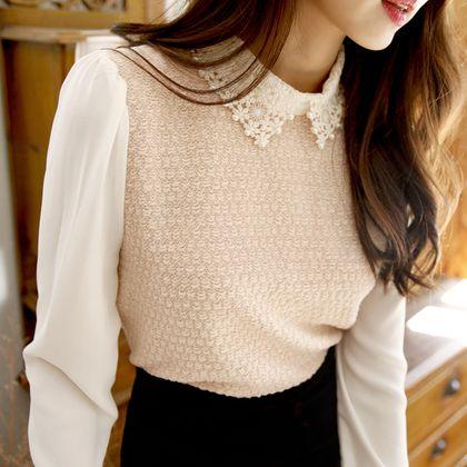 Korea Womens Luxury Shopping Mall [mimindidi] Pearl Flower ♡ bl / Size : FREE / Price : 43.15 USD #korea #fashion #style #fashionshop #apperal #luxury #lovely #mimididi #top #blouse #pearl #datelook