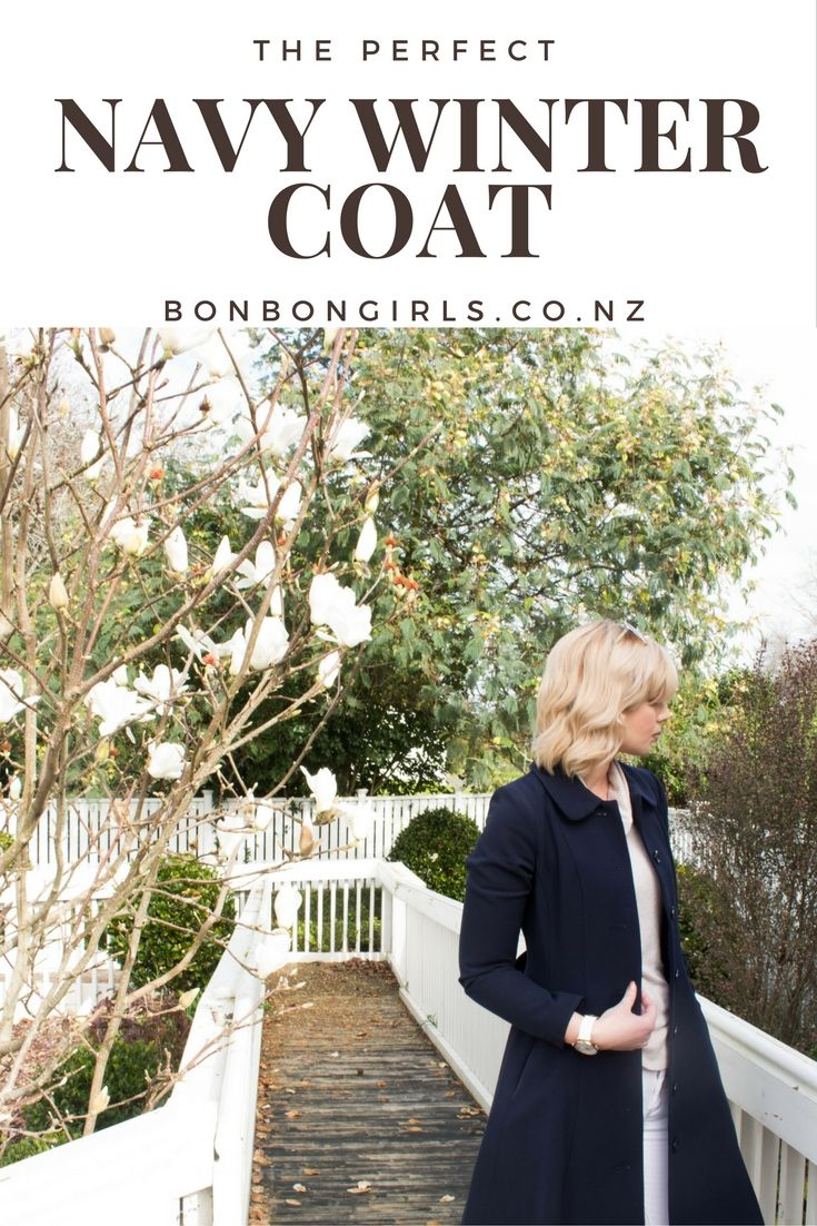 The Perfect winter coat http://bonbongirls.co.nz/navy-winter-coat/