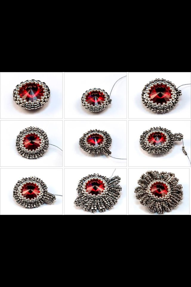 461 best tutorials beaded pendants images on pinterest bead rivoli tutorial mozeypictures Choice Image