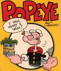 Popeye the Sailor Man- I remember this show as a kid and I had a couple shirts... This is probably the reason I love spinach so much now cause I always wanted to get big and strong so I kept eating and eating it