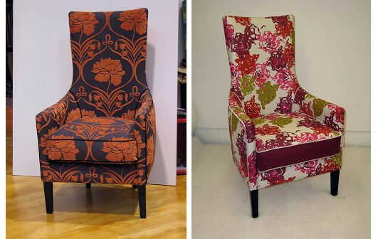 Contrast piping and border panels accentuate the shape of these high-back chairs - Living Room, Wellington