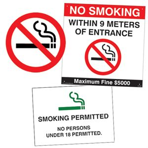 No Smoking & Smoking Permitted Signs