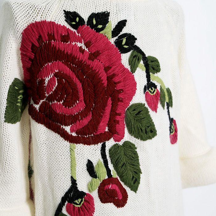 Из осенней Angelcitiz коллекции. Кардиган с вышивкой. Идея для вязания   Шкатулочка для рукодельниц