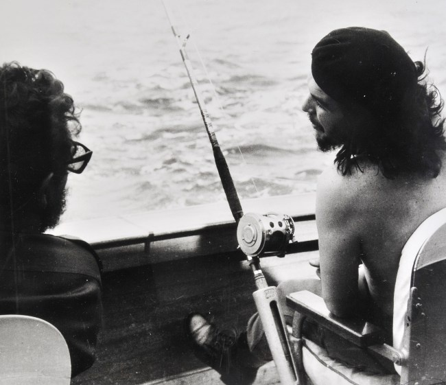 Fidel Castro and Che Guevara fishing by Alberto Korda