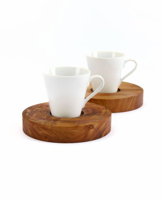 Olive tree cup holder
