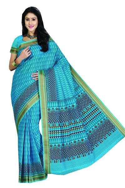 Saree Blue Cotton Kanchipuram3625 A4 |  Product Code: A4KANC3625 STHRI always have the Best Hand-Picked collections that fits perfectly for all Occasions : Regular Office and Casual Wear, Party and Traditional Wear, Festive and Reception Designer Wear, Indo-Western and Fusion Wear, Ceremony and Ethnic Wear with rich georgette, chiffon, crepe & cotton material.